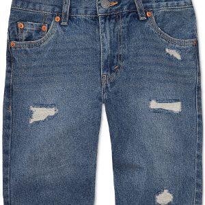 511 Distressed Cotton Denim Shorts