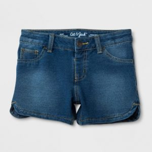 Girls' Knit Denim Jeans Shorts