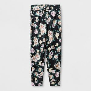 Girls' Sweet and Sporty Printed Joggers